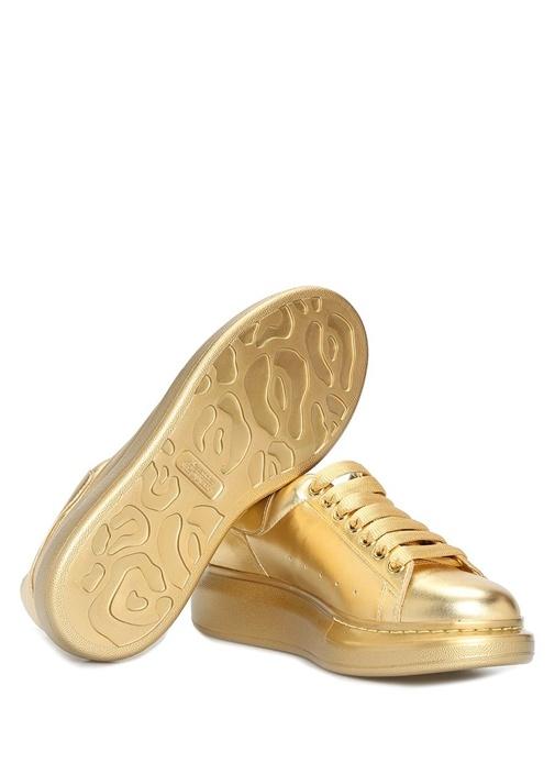 Oversize Gold Kadın Deri Sneaker