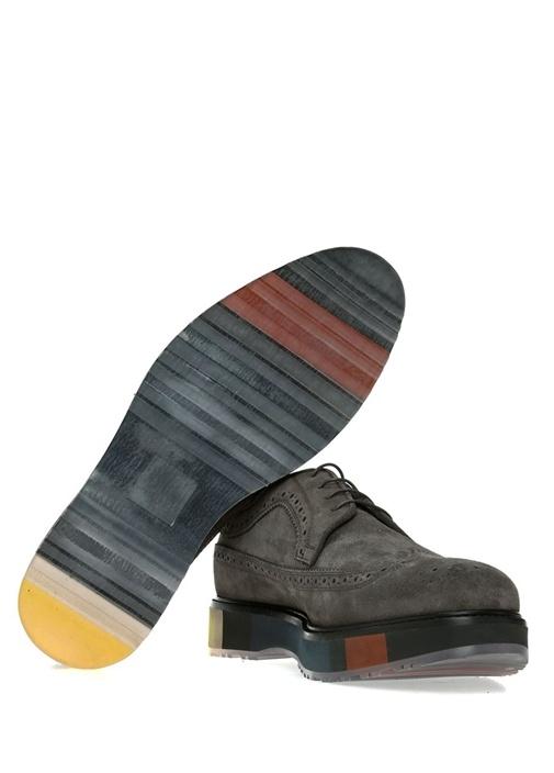 Kahverengi Taban Detaylı Erkek Süet Ayakkabı