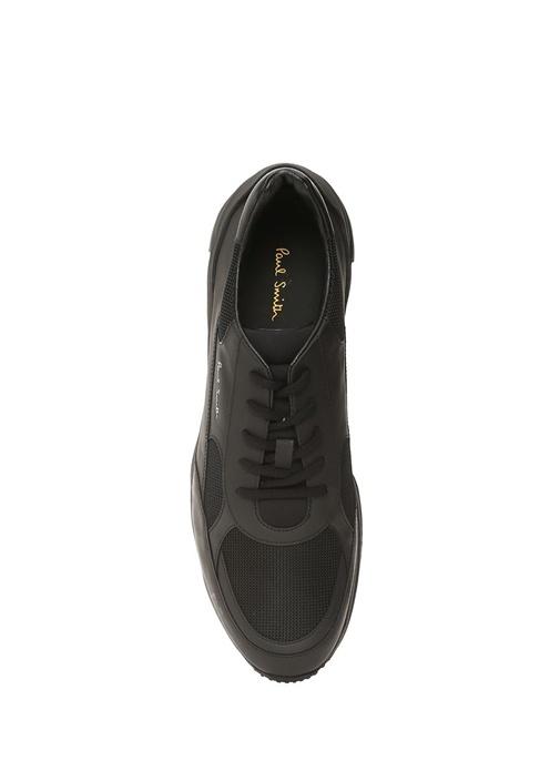 Explorer Siyah Logolu Erkek Deri Sneaker