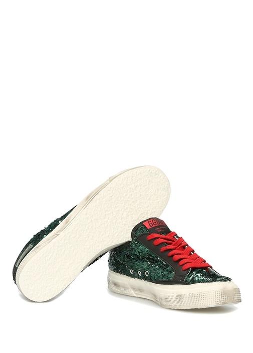 May Yeşil Pulpayet İşlemeli Kadın Sneaker