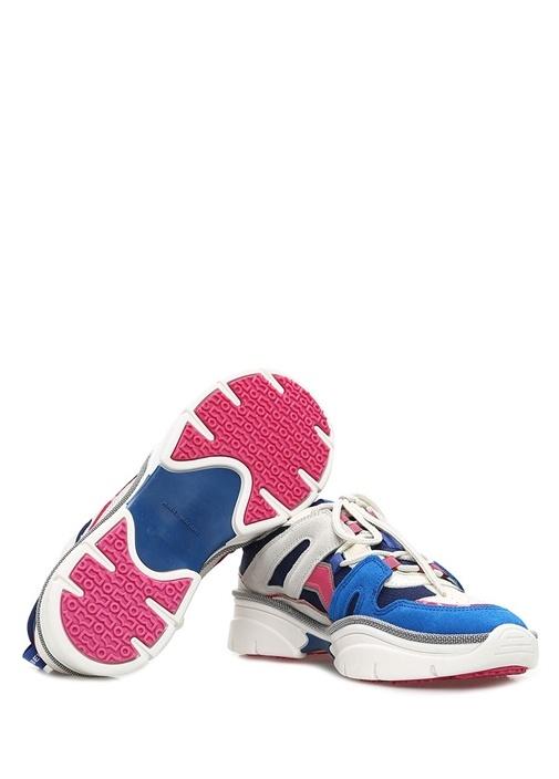 Kindsay Lacivert Garnili Kadın Süet Sneaker