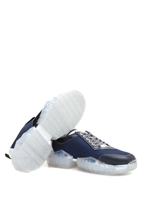 Diamond Mavi Taban Detaylı Erkek Deri Sneaker