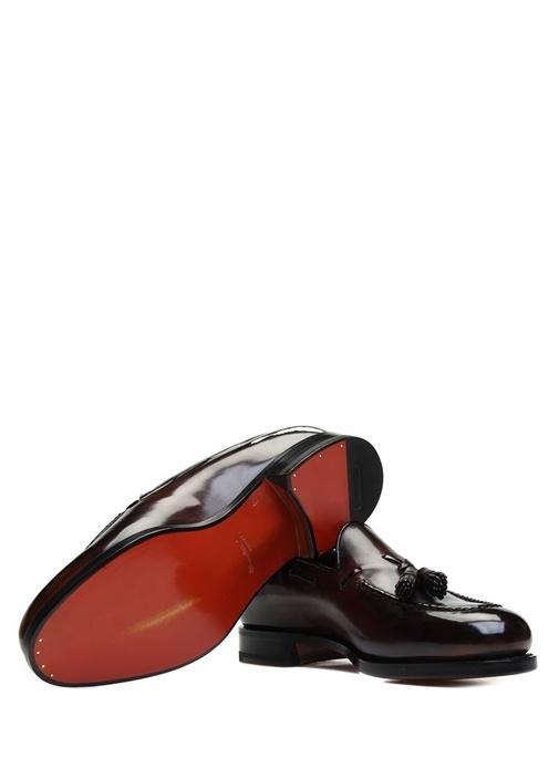 Kahverengi Püsküllü Erkek Deri Loafer