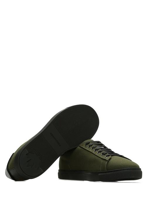 Haki Siyah Loog Baskılı Erkek Sneaker