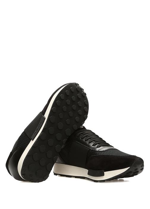 Horace Siyah Logo Şeritli Erkek Deri Sneaker