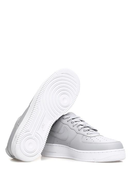 Air Force 1 07 Gri Erkek Deri Sneaker