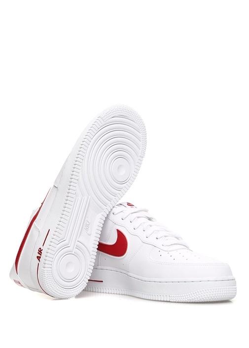 Air Force 1 07 Beyaz Kırmızı Erkek DeriSneaker