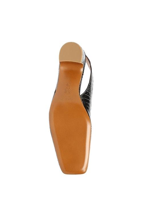 Danielle Siyah Dokulu Kadın Deri Topuklu Ayakkabı