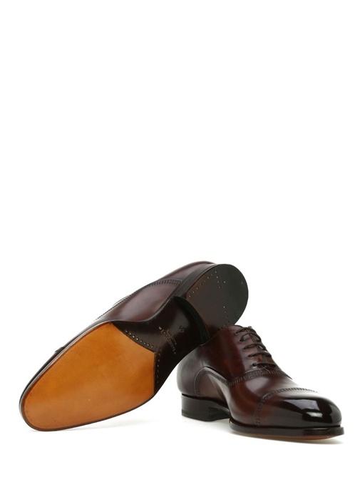 Kahverengi Dekoratif Dikişli Erkek DeriAyakkabı