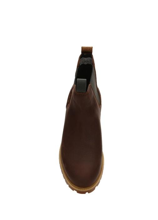 6 Inch Premium Kahverengi Erkek Deri Bot