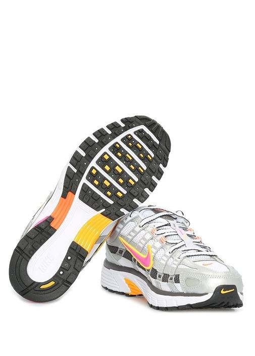 P 6000 Gri Beyaz Kadın Sneaker