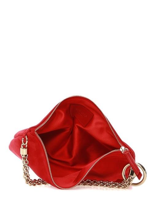 Callie Kırmızı Kadın Süet El Çantası