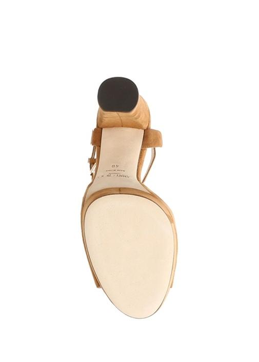 Peachy Taba Platformlu Kadın Süet Sandalet