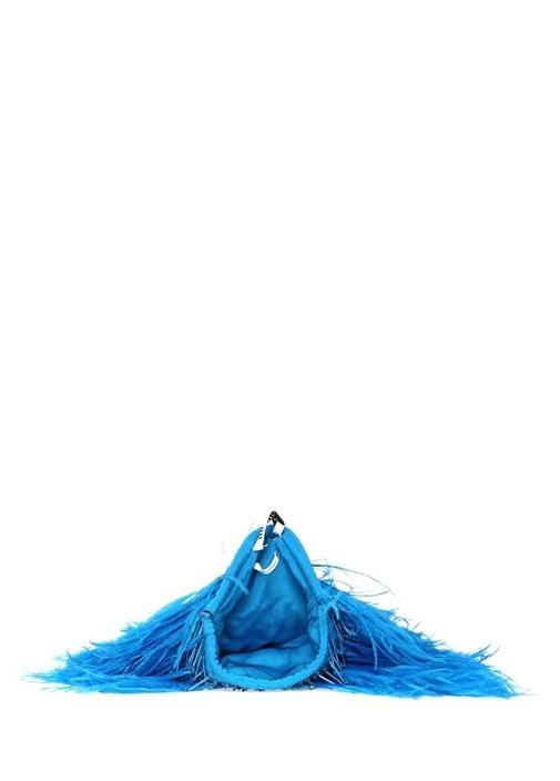 Greta Mavi Tüy Detaylı Kadın El Çantası