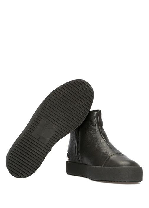 Tracy Steel Siyah Kadın Deri Sneakers