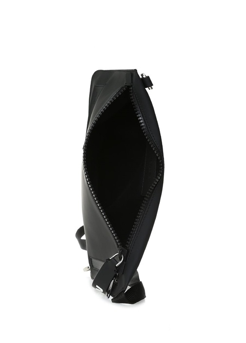 Siyah Logolu Erkek Deri Çanta