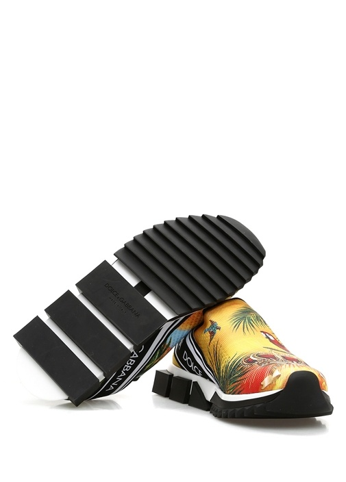 Sorrento Sarı Taban Detaylı Baskılı Erkek Sneaker