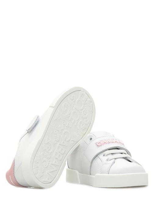 Portofino Pembe Beyaz Kız Çocuk Deri Sneaker