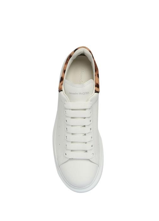 Oversize Topuğu Desen Detaylı Kadın Deri Sneaker