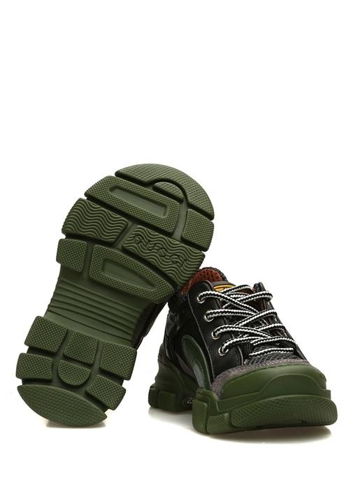 Yeşil Logo Desenli Unisex Çocuk Sneaker