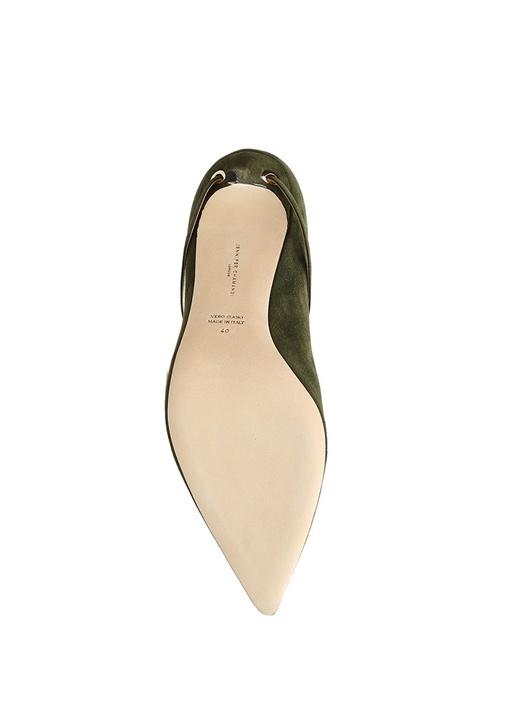 Lorenzo Haki Kemer Detaylı Süet Stiletto