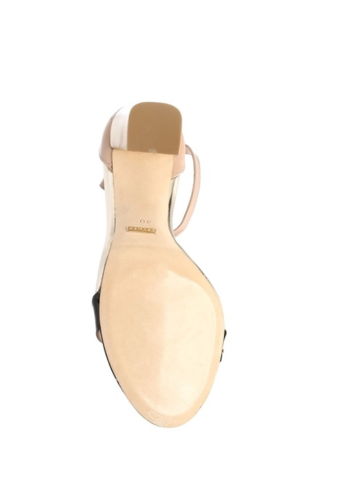 Siyah Rugan Sandalet