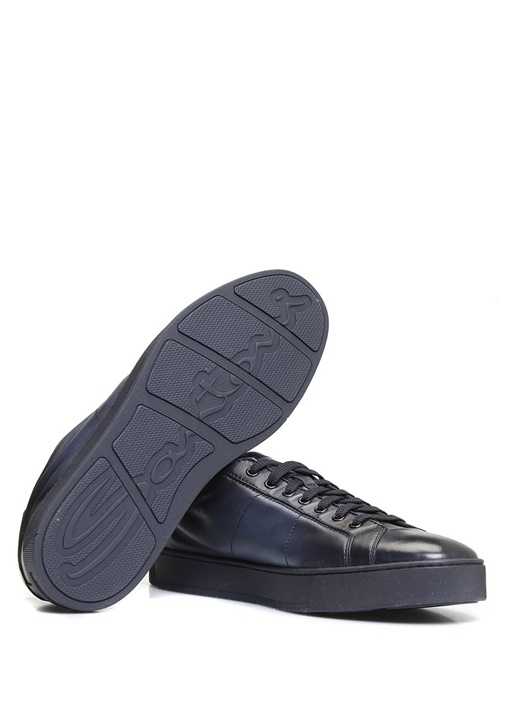 Lacivert Erkek Deri Sneaker