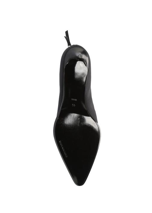 Siyah Taş İşleme Detaylı Kadın İpek Bot