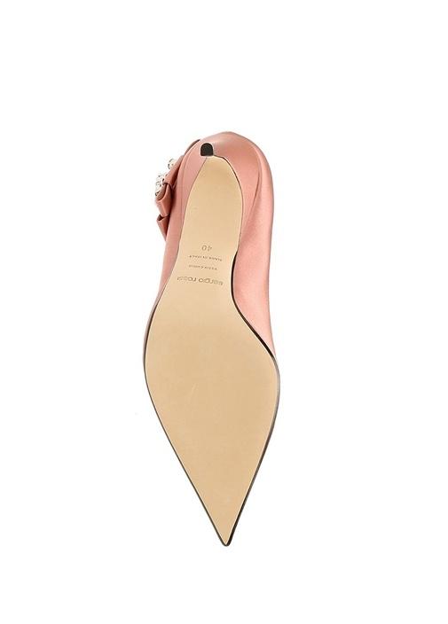 Icona Pembe Logolu Kadın İpek Gece Ayakkabısı