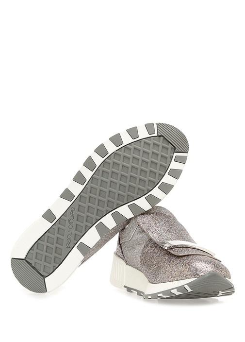 Silver Sim Dokulu Plakalı Logolu Kadın Sneaker