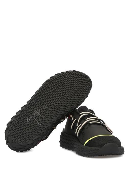 Urchin Siyah Logolu Kadın Deri Sneaker