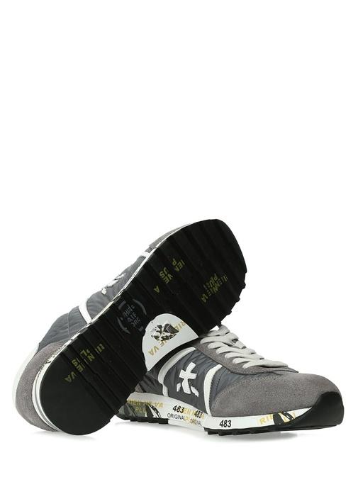 Lucy 618E Gri Logolu Erkek Deri Sneaker