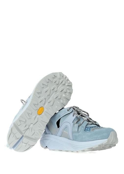 Mavi File Dokulu Garnili Kadın Süet Sneaker