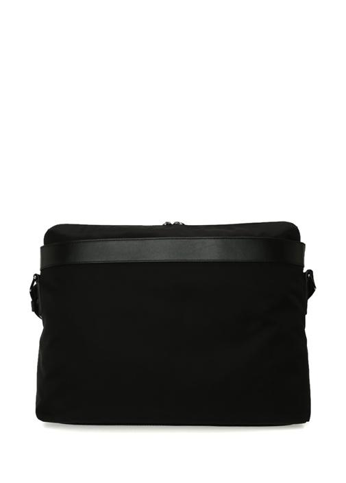 Siyah Logolu Erkek Omuz Askılı Çanta