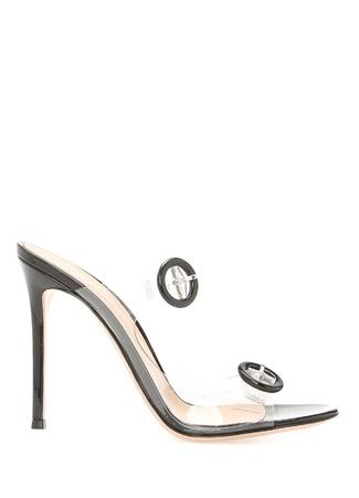 Kadın Plexi Trasp Siyah Deri Sandalet 38.5 EU