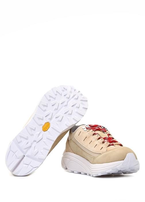 İrıs Bej Logolu Kadın Süet Sneaker