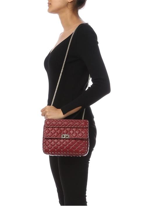Bordo Kadın Deri Çanta