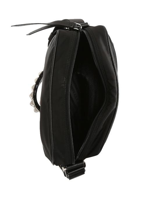 Siyah Silver Troklu Kadın Çanta