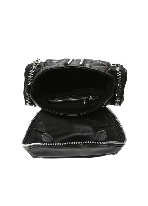 Micro Marti Siyah Kadın Deri Çanta