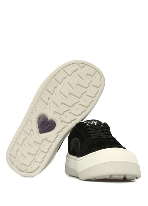 Sonic Siyah Logolu Kadın Süet Sneaker