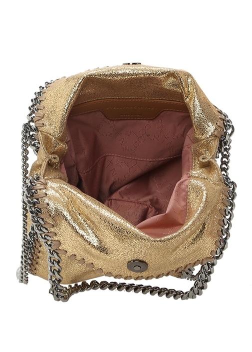 Falabella Gold Parlak Dokulu Zincirli Kadın Çanta