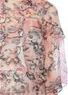 Reolla Pembe Baskılı Fırfırlı Midi Şifon Elbise