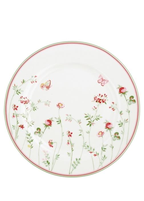 Meadow Camille Beyaz Çiçekli Yemek Tabağı