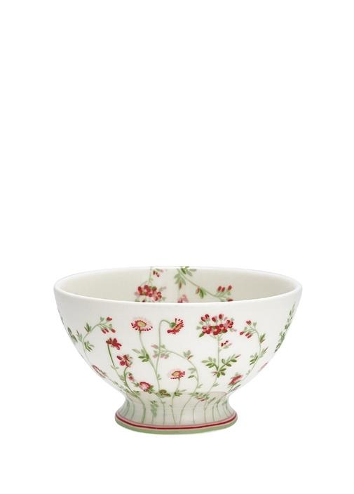 Meadow Camille Beyaz Çiçekli Çorba Kasesi