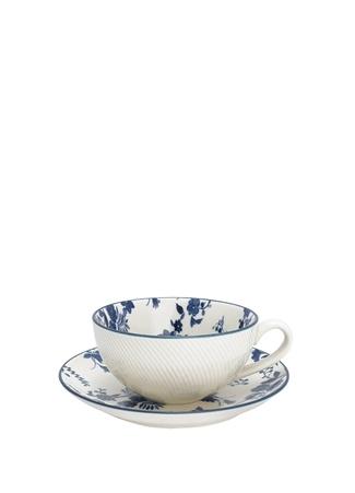 Hope Vanessa Beyaz Çiçekli Porselen ÇayFincanı