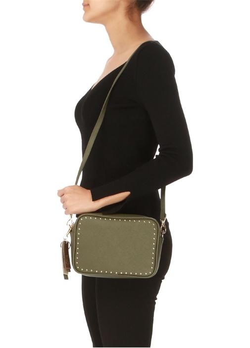 Haki Gold Troklu Kadın Omuz çantası