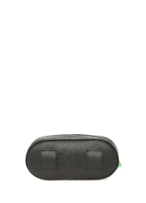 Icon Siyah Neon Pembe Kadın Deri Bel Çantası