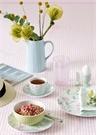 Alina Beyaz Çiçek Baskılı Porselen Yemek Tabağı