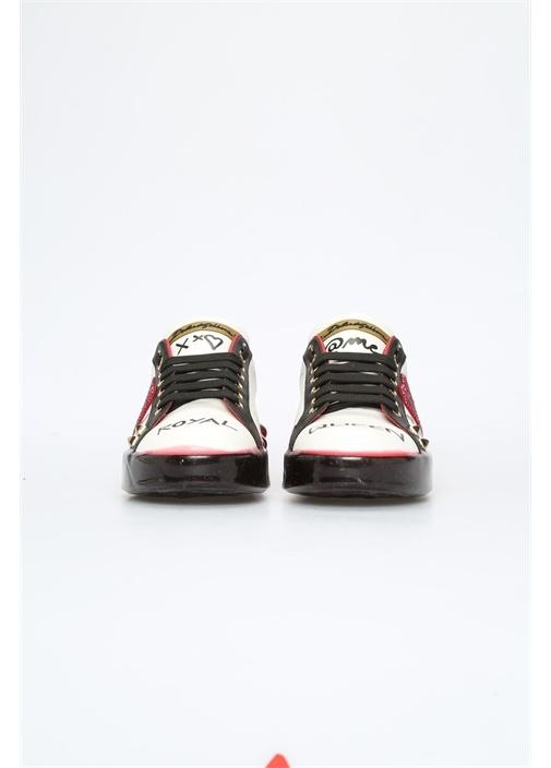 Portofino Beyaz Taş İşlemeli Kadın DeriSneaker