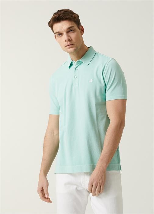 Comfort Fit Mint Polo Yaka T-shirt